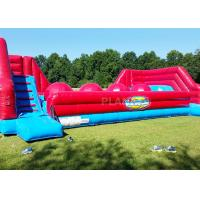 Quality Red Balls Inflatable Sports Games Wipe Out Interactive Obstacle Course for sale