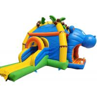 Wholesale Inflatable Hippo trampoline commercial bounce house for kids water park from china suppliers