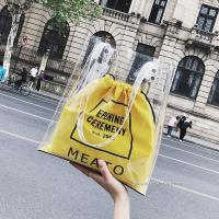 Buy cheap Fashion Clear PVC Tote Bag Handbag For Ladies , Offset Printing Or Silk Screen from wholesalers