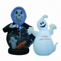Wholesale Halloween Inflatable with Witch and Ghost Design, Customized Sizes and Colors are Welcome from china suppliers