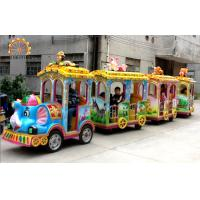 Wholesale Elephant Trackless Train Ride , Fiberglass And Steel Mall Train Ride from china suppliers
