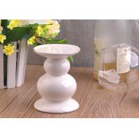 Wholesale Long Stem Ceramic Candle Holder , White Ceramic Pillar Candle Holder from china suppliers