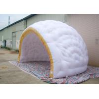 Quality Commercial Inflatable Igloo Tent Semi Circle Logo Printing Fire Retardant for sale