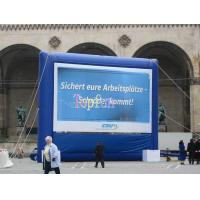 China Blue Inflatable Advertising Movie Screen Inflatable Movie Theater Screens Outdood Inflatable Movie Screen on sale