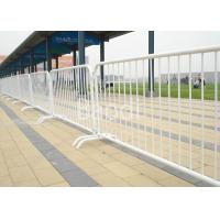 China Powder Coated White Crowd Control Barrier , 1.1 X 2.5m Temporary Yard Fence  on sale