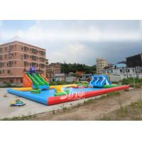 Quality 25x20m Kids N Adults Large Inflatable Water Park On Land With Big Inflatable Pool N Water Equipments for sale