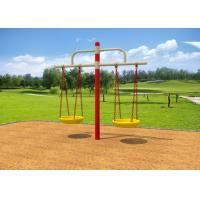 Childrens Double Swing Set / Playground Swing Sets With Bold Beam Comfortable Chair