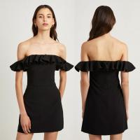 Wholesale Fashion Black Off Shoulder Dress Sexy Ladies Ruffle from china suppliers
