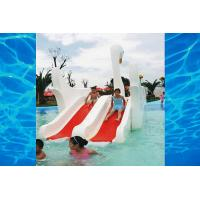 Wholesale Indoor Or Outdoor White Swan Fiberglass Pool Slide , Water Amusement Park Kids Water Slide from china suppliers