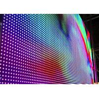 Wholesale P10mm Rental LED Curtain Display Video Wall , LED Mesh Stage Curtain from china suppliers