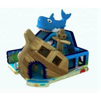 Quality 6×6 Meter Inflatable Jumping Slide , Blue Marine Themed Inflatable Water Slide for sale