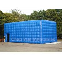 Wholesale PVC Tarpaulin Blue Inflatable Cube Tent for outdoor event from china suppliers