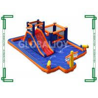 China Outdoor 0.55mm PVC Bounce House Inflatable Water Slide For Kids And Adults on sale
