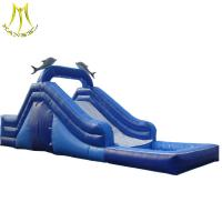 Wholesale Hansel  kid jumper play ground outdoor kid inflatable water slide from china suppliers