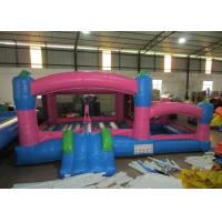 Kids Outdoor Custom Made Inflatables Bounce House Combo 0.55mm Pvc Tarpaulin