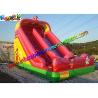 China Dora Commercial Inflatable Slide , Pink Two Lane bounce house water slide on sale