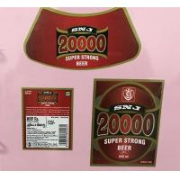 Wholesale CMYK Removing Beer Bottle Labels Custom Beer Label Maker Square Oval Shape from china suppliers