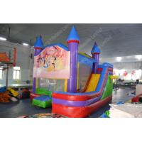 China Mini Inflatable Bouncy Castle / bounce house With Slide For Amusement Park on sale