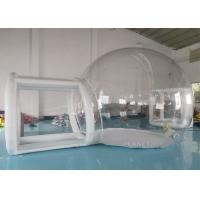 Wholesale 4m Diameter Big Transparent Camping Clear Inflatable Advertising Dome Bubble Tent With Tunnel from china suppliers