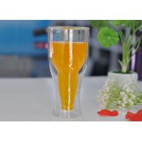 Wholesale 12 fl.oz 350ml Creative Double Wall Heat Isolated Glass Beer Tea Mug Cup from china suppliers