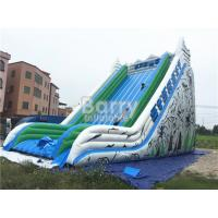 China Custom Made Large Inflatable Slide , Commercial Adult Blow Up Slide on sale
