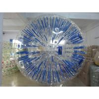 Wholesale Custom Blue Inflatable Zorb Ball / Amusement Park Hamster Balls For Humans from china suppliers