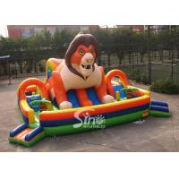 Wholesale 9x9m outdoor big jungle lion kids inflatable fun park with slide for fun parties from Sino Inflatables from china suppliers