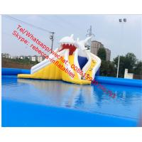Wholesale inflatable shark slide inflatable pool slide inflatable water slide for pool from china suppliers