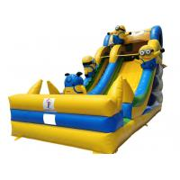 Wholesale New design yellow man large inflatable minion slide fun city water park from china suppliers