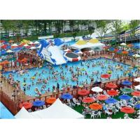 Buy cheap Large Frame Outdoor Inflatable Water Park With Pool , Inflatable Backyard Water from wholesalers