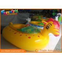 Adult Electric Inflatable Boat Toys , Animal Shape Motorized Inflatable Bumper Boats