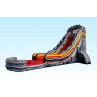 China Custom Made Gray Giant Inflatable Slide , Blow Up Water Slides For Adult on sale