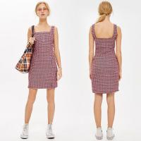Wholesale Gingham Women Dress Mini Summer Tank Dresses Ladies from china suppliers