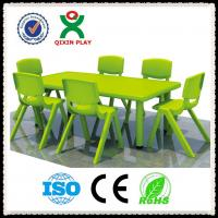 Wholesale Rectangular Plastic Table with Chairs / Square Tables and Chair for Kindergarten QX-194G from china suppliers