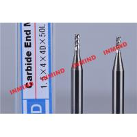 Wholesale 1.5 mm Dia 3 Flute End Mill For Aluminum , Bright Surface 4 mm Cutting Length from china suppliers