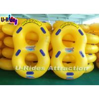 Buy cheap Pvc Material Yellow Pool Float Ring Inflatable Swim Rings For Adults from wholesalers