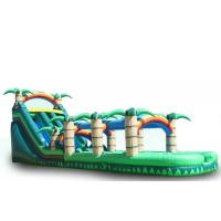Wholesale Rainbow Big Inflatable Water Slides , Kids / Adults Blow Up Slip And Slide from china suppliers