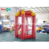 Wholesale Red Custom Inflatable Products / PVC Tarpaulin Cube Inflatable Money Booth With 2 Air Blowers from china suppliers