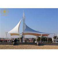 Quality 1100g Fabric Shade Structures Flame Retardant Fashionable Style Heat Resistant for sale