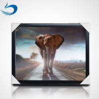 Wholesale 50*70cm 3d Lenticular Poster Animal Theme 3D Flip Effect With MDF Frame from china suppliers