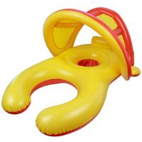 Wholesale Mom And Baby Inflatable Swim Ring With Sun Shade Canopy / Bucket Seat PVC Baby Float from china suppliers