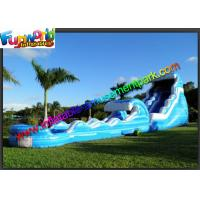 Wholesale 0.55mm PVC Tarpaulin Blue Commercial Grade Inflatable Water Slide for Adult from china suppliers