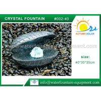 Buy cheap Cast Stone Seashell Water Fountain / Outdoor Garden Water Fountains 40kgs from wholesalers