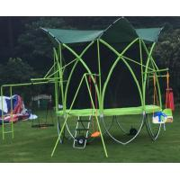 Wholesale Kids Like Muliti-function Outdoor Fitness Trampoline with Swing and Crawling Ladder from china suppliers