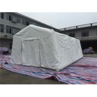 Wholesale PVC Air Tight White Inflatable Emergency Tent , Hospital Inflatable Army Medical Tent from china suppliers