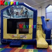 Wholesale 5 in 1 Combo,Pirate Bounce with printing ,inflatable bouncer with slide KCB034 from china suppliers