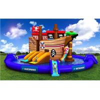China Fashionable Pirate Ship Giant Inflatable Water Playground For Summer on sale