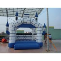 China Theme Park Large Inflatable Bounce House With Slide CE / TUV Cert on sale