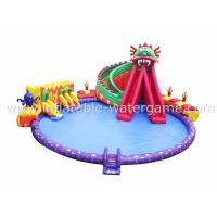 China 20M Diameter Inflatable Kiddie Pool With Slide , Backyard Inflatable Pools on sale