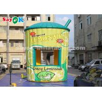 Buy cheap 5m High PVC Inflatable Lemonade Stand Booth with Blower for Business from wholesalers